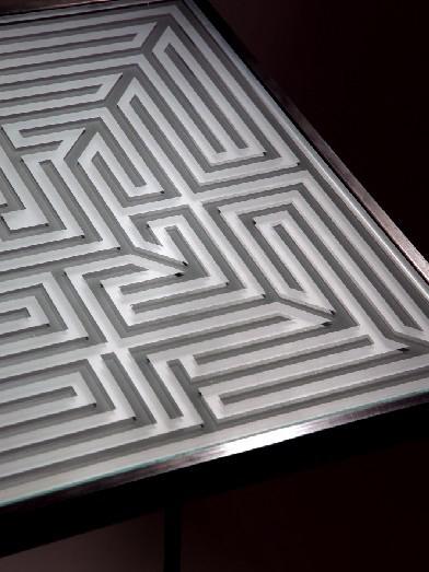 Labyrinth sandgestrahlt